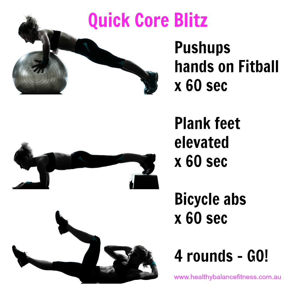 Core workout for home