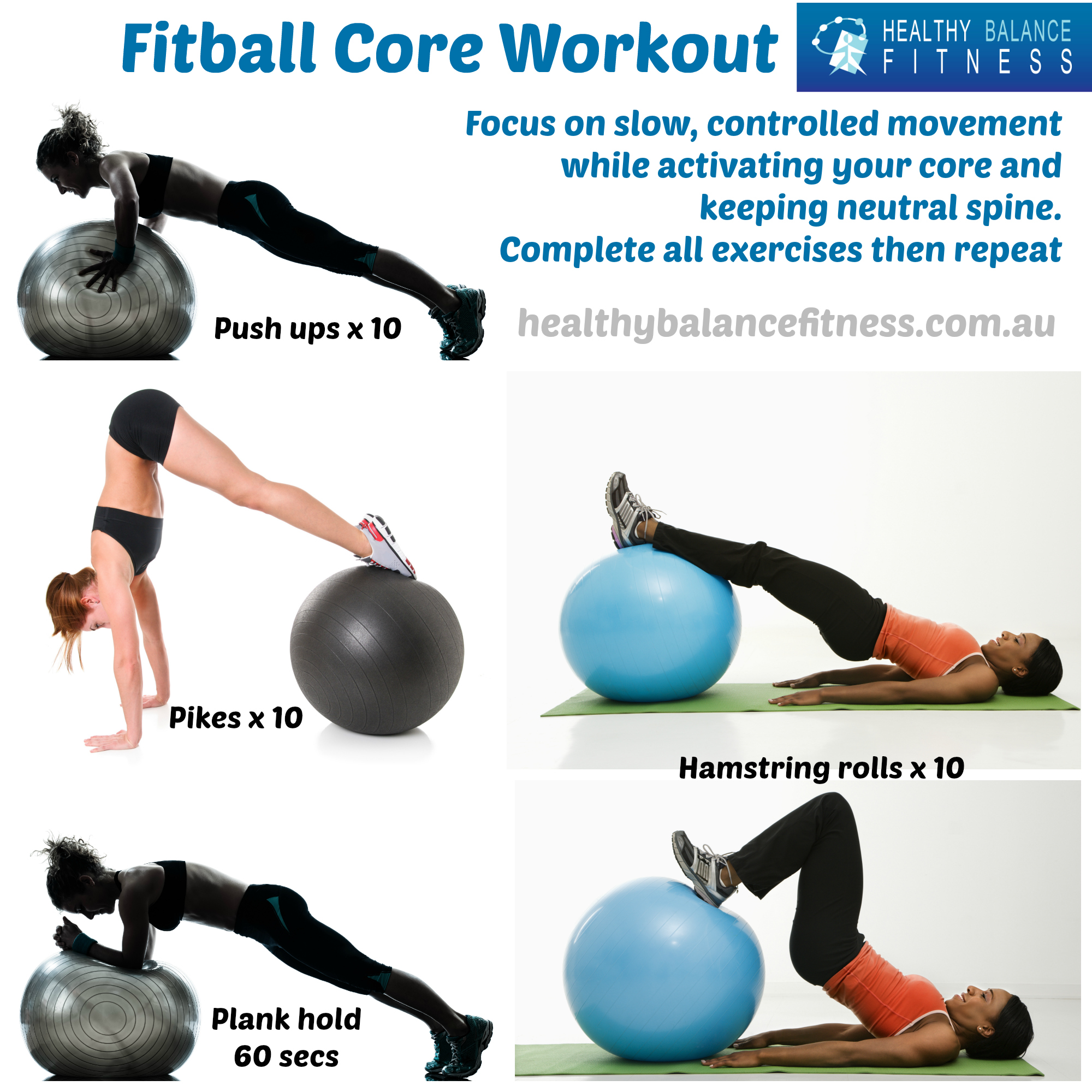 ... and strength with this Fitball core workout - Healthy Balance Fitness