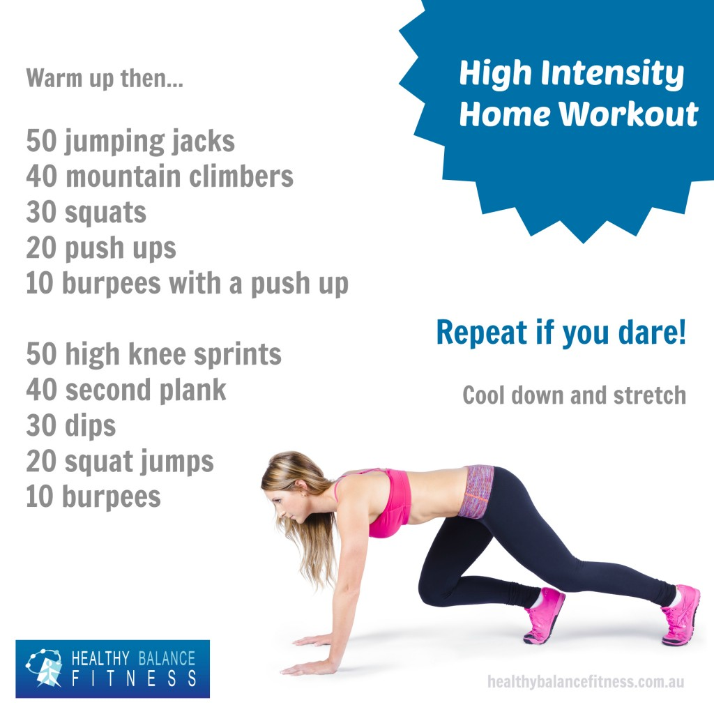 High Intensity Home Workout #wod