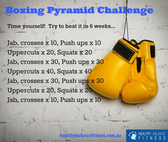 Best Boxing Workouts - Boxing Pyramid Challenge