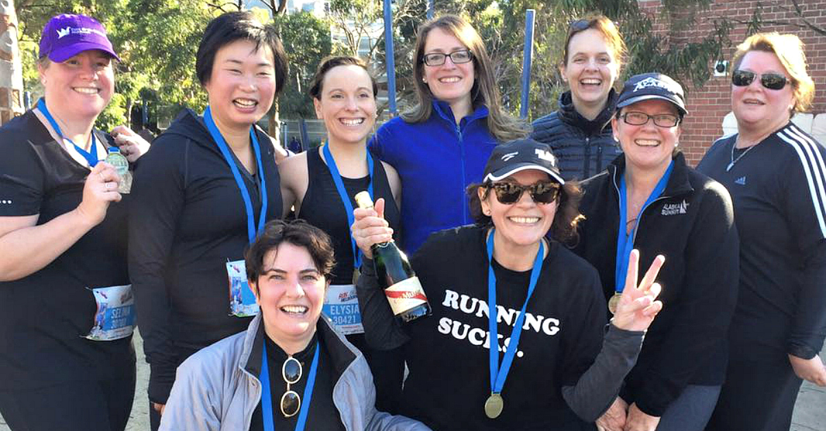 Beginners running group melbourne tan track