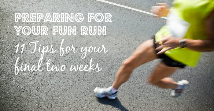 Preparing for a Fun Run – checklist for final two weeks