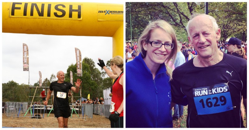 My Dad and I at Tough Bloke Challenge 2014 | Healthy Balance Fitness