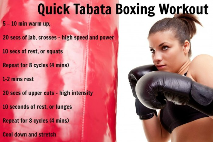 Quick tabata boxing workout