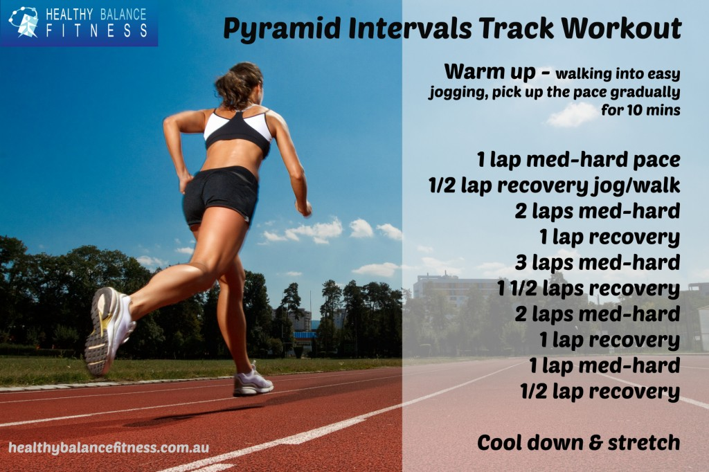 Pyramid intervals track workout