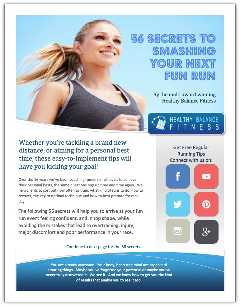 56 secrets - Free running guide