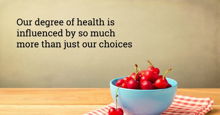 Our health is not our weight, our diet, or our exercise program
